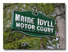 Maine Idyll neon sign